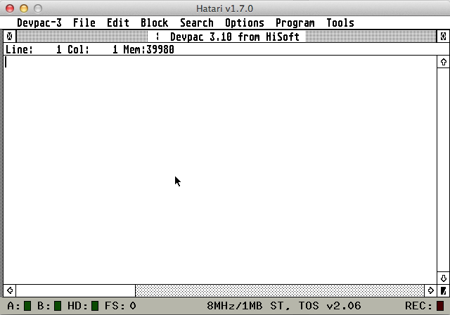 Programming the Atari ST 20 Years Later – The Void